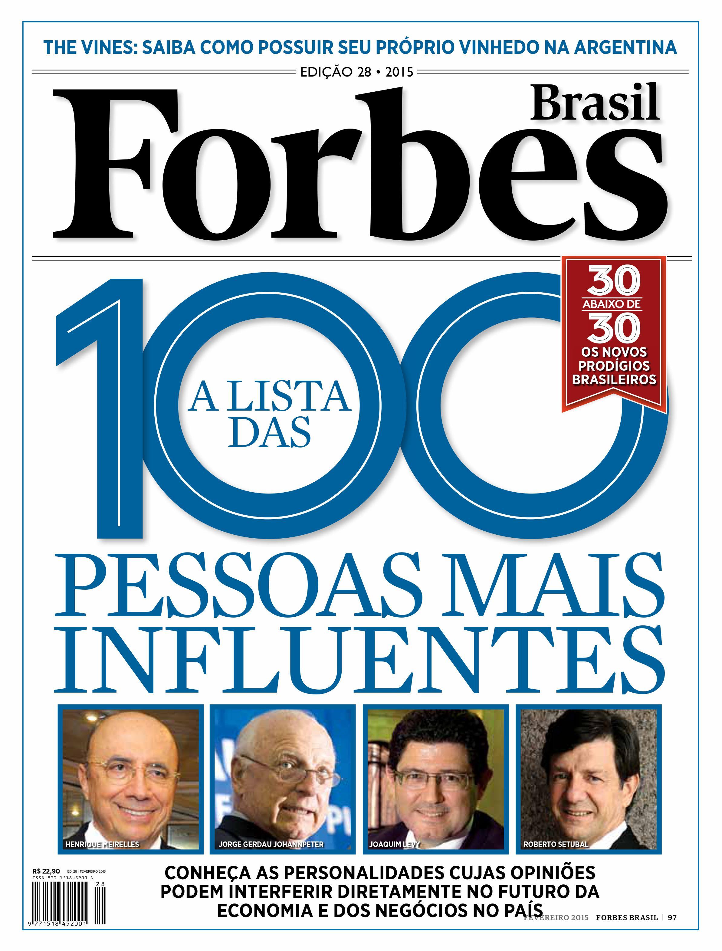 Forbes 100 mais influentes - Capa