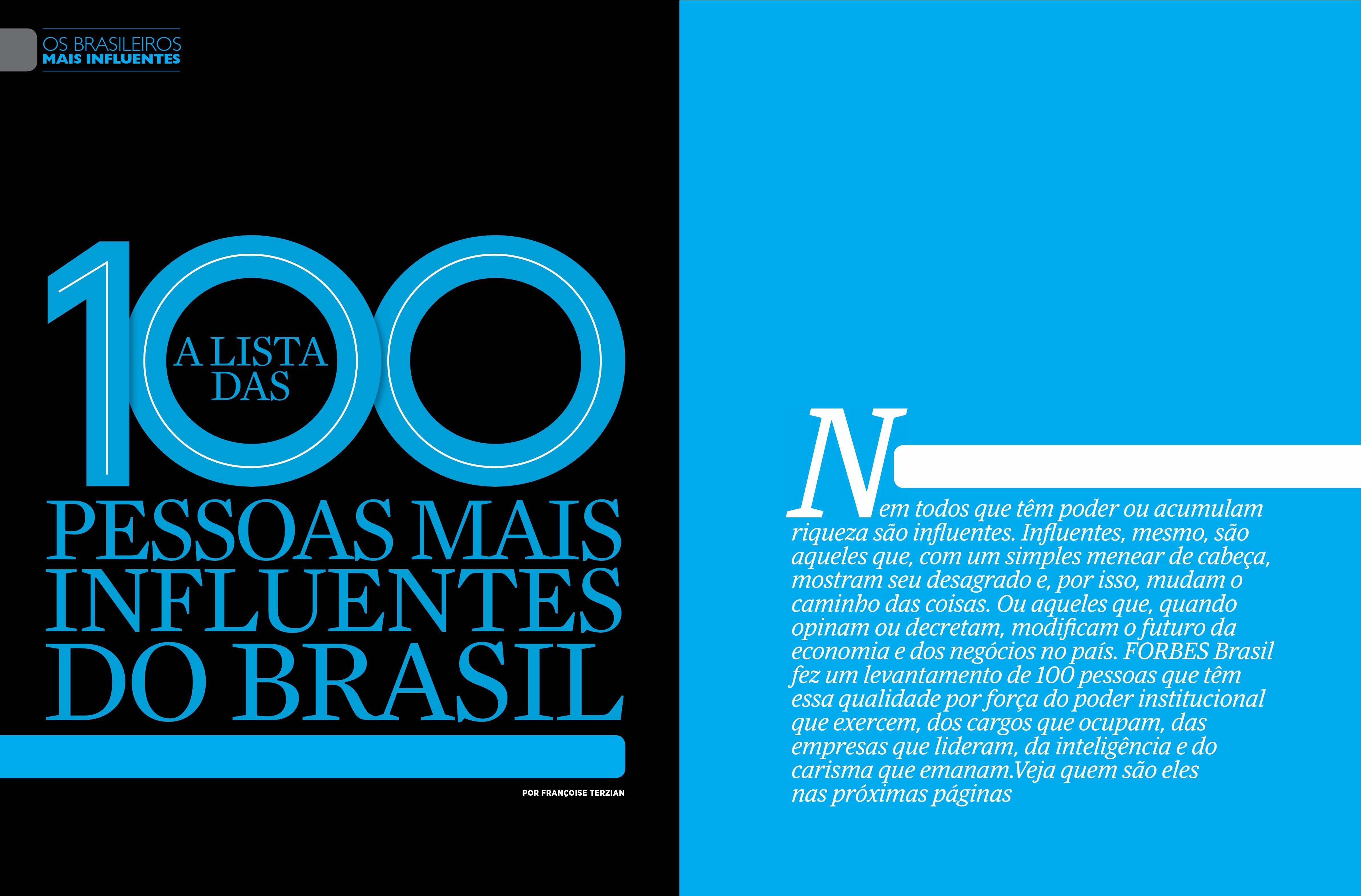Forbes 100 mais influentes - Pag Abertura